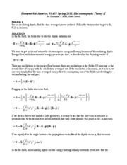 Homework E Solutions on Electromagnetic Theory