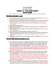 LOTF_Ch12_Study Guide