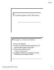 6 Contraception and Abortion (2 per page)
