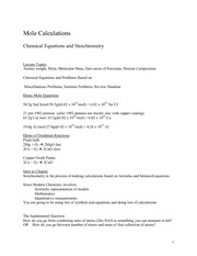 Lecture Notes E on General Chemistry
