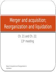 12th merger and reorganization