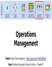 7 Operations Management