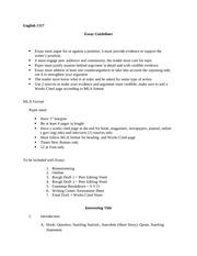 argue a position essay