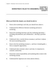 Chapter 1 Marketing Notes