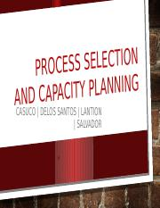 Process Selection and Capacity Planning - PPT
