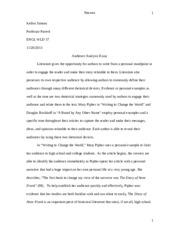 electronic experiences essay kellen simons professor parrett  5 pages audience essay