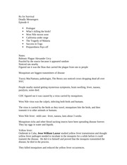 Rx For Survival Episode 4 Notes Rx For Survival Deadly Messengers Episode 4 Prologue Whats Killing The Birds West Nile Moves West California Under Course Hero