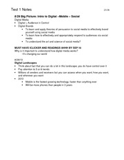 MC 2525 Notes for Test 1