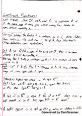 Introduction to Real Analysis - Continuous Functions Notes