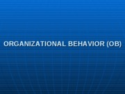 How students work on Organizational Behavior