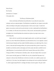 Research Paper- History of Playstation Draft.docx