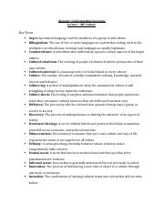 Glossary_Understanding Sociology_Culture .docx