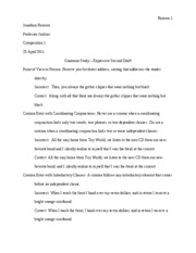 grammer study - expressive second draft