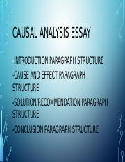 CAUSAL ANALYSIS ESSAY STRUCTURE