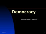 Lecture 6- Democracy
