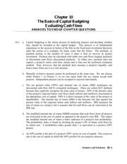 The Basics of Capital Budgeting-  Evaluating Cash Flows