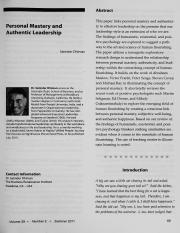 Dhiman, S. (2011). Personal mastery and authentic leadership. Organization Development Journal, 29(2