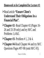 Lesson _3, TVM, Key FP Documents and Debt Mngt, Chapter 2, 4 and 12  S2016, For Posting.