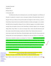 English 298 Essay 2 With Comments