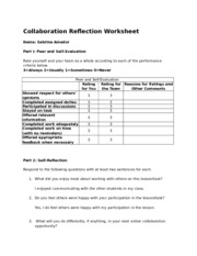 Collaboration Reflection