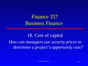 18.  Notes Cost of Capital Spring 2015