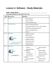 Lesson 4 & 5 - Study Material