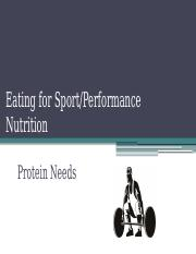 8s Eating for Sport-Protein Needs.pptx