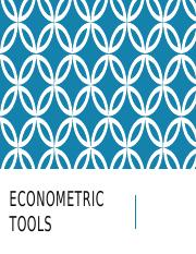 8  Econometric Tools.pptx