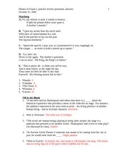 Exam 2, practice questions, answers
