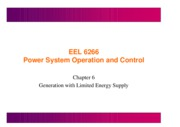 lecture9- Generation with Limited Energy Supply