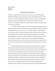 Reflection Paper - 12 Angry Men
