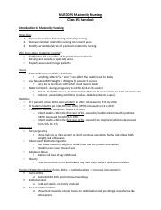 Class 1 Notes - Maternity .docx