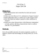 US HISTORY I CH 10 SEC 3 NOTES - Devon Brandt.doc