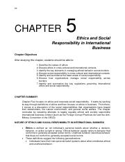 Notes_Chapter 5 Ethics and Social Responsiblity