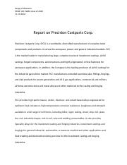 Report on Precision Castparts Corp.docx