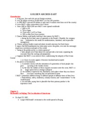Golden Arches Reading Outline