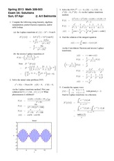 Exam 3 Version A Spring 2013 on Differential Equations