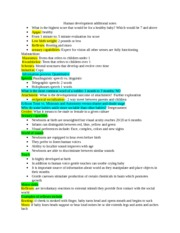 Human development additional notes