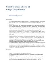 Constitutional Effects of Coups