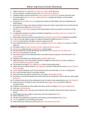 HTM 324 Lecture Questions Native Americans w ans sp17 (1)