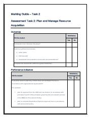 Marking Guide - Task 2 - Manage Operational Plan BSBMGT517.pdf