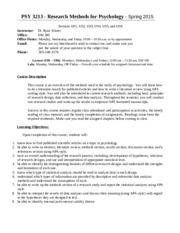 PSY 3213 Lecture Syllabus - Spring 2015 (Live)(2)