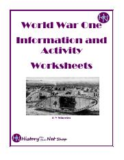 World War I Packet