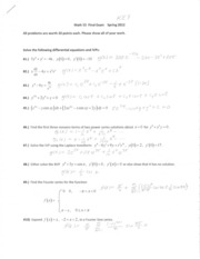 Math 55 Practice Final Exam  SOLUTIONS