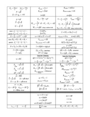Electromagneticism Equations
