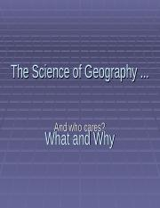 The Science of Geography GE112.ppt