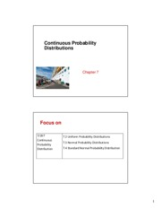 GC1055 Business Statistics - Chapter 7  _2 per page_