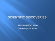 Scientific Discoveries 21510