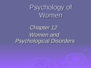 ch12 Fall2015diagnoses and depression
