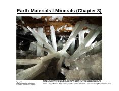 GEO401_Lecture3_EarthMaterials_1